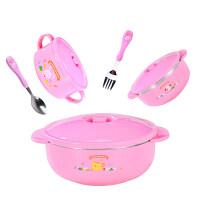 【支持礼品卡】宝宝儿童餐具碗勺套装训练碗不锈钢吃饭防摔保温碗婴儿辅食碗5hz