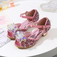 女童凉鞋公主鞋儿童高跟鞋2019夏季新款女童鞋水晶鞋韩版中大童鞋
