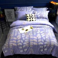 冬季磨毛四件套纯棉 1.8米双人床单被套加厚保暖4件套床上用品