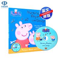 英文原版 Peppa Pig Nursery Rhymes and Songs 粉红猪小妹佩奇幼儿园儿歌童谣歌曲 附CD
