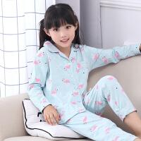 女童睡衣儿童春秋季长袖公主套装中大童春天卡通女宝宝家居服
