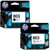 原装正品 惠普803墨盒 黑色彩色 适用于原装惠普 DeskJet 1111 1112 2131 hp2132彩色喷墨