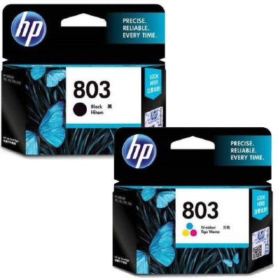 原装正品 惠普803墨盒 黑色彩色 适用于原装惠普 DeskJet 1111 1112 2131 hp2132彩色喷墨打印机 墨盒 墨水 满99元包邮!原装正品!黑彩可选!