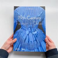 服装设计作品集 19世纪的时装时尚细节 复古服装服饰设计图书籍 19th-Century Fashion in Detail