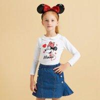 【年货节狂欢购,2件3折到手价:40.5】美特斯邦威旗下Moomoo童装女童春秋迪士尼娃娃领针织长袖T恤女