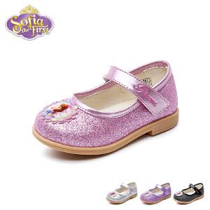 【清仓特惠】迪士尼Disney童鞋18新款婴童皮鞋苏菲亚公主鞋女童时装鞋宝宝学步鞋 (0-4岁可选) DF0471