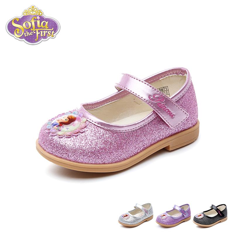 【99元任选2双】迪士尼Disney童鞋18新款婴童皮鞋苏菲亚公主鞋女童时装鞋宝宝学步鞋 (0-4岁可选) DF0471【99元任选2双】 支持礼品卡支付