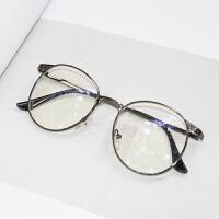 2018新款眼镜框女镜架眼睛潮韩版复古圆框平光男大脸成品近视镜