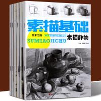 美术之路全套6册 素描静物+单体静物+结构素描+几何形体+石膏像+素描头像 从零起步素描基础教程 素描入门自学零基础