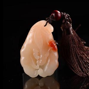 结晶寿山石带天然巧色《有福之手手玩件》
