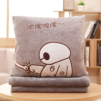 抱枕被子两用办公室午睡枕珊瑚绒毯子三合一汽车靠垫靠枕空调被