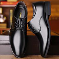 男士皮鞋男商务正装内增高西装工作青年英伦韩版休闲黑色尖头男鞋