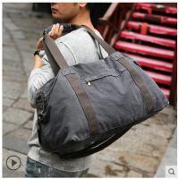 新款帆布旅行包行李包旅游包包男男士大容量手提包短途出差