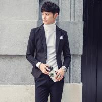男士休闲西装外套男韩版潮英伦小西装男冬季修身加厚上衣单件青年