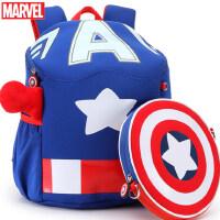 迪士尼儿童书包卡通男童美国队长幼儿园3-5岁中大班宝宝双肩背包6