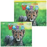 包邮 美国国家地理幼儿 Welcome To Our World 3 学生用书和练习册套装 含CD DVD 赠在线学习