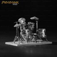 diy金属拼装乐器架子鼓 家居办公室摆件 精美创意3D立体模型拼图