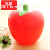 C040创意潮流可爱草莓迷你桌面垃圾桶 韩式甜美摇盖式优质收纳桶
