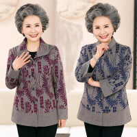 中老年妈妈秋装外套春秋老人装60-70岁女装夹克上衣奶奶短款风衣