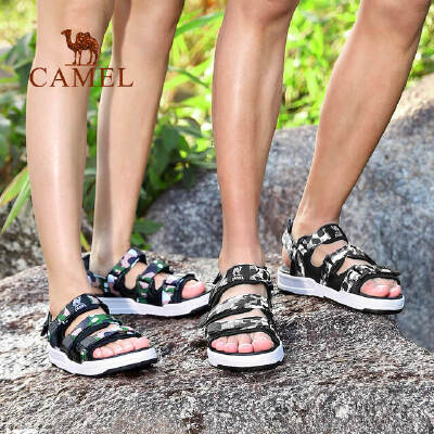 camel骆驼户外情侣凉鞋 轻盈回弹时尚舒适休闲沙滩鞋男女