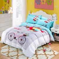 ???个性床上四件套 创意 情侣情趣 磨毛春秋床上用品床单被套大阪花