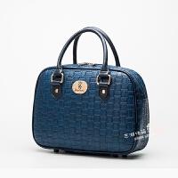小旅行袋可套拉杆箱男女行李登机包多功能箱包短途出差手提包迷你 深蓝色 中