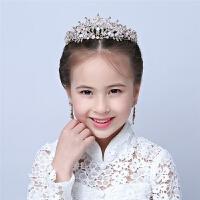新款儿童头饰 粉色皇冠女童公主皇冠婚纱配饰 花童皇冠发饰