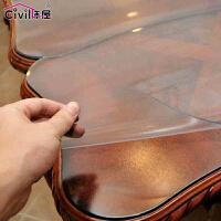PVC桌布软玻璃磨砂半透明台布餐桌布防水桌垫水晶板茶几垫定做