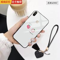 小米红米note4x手机壳redmi6pro钢化玻璃六pr0保护套redml全包noto4x防摔ma 6pro 草莓(