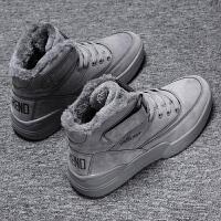 马丁靴男冬季高帮鞋子男靴棉靴潮鞋加绒加厚防水保暖雪地棉鞋男鞋