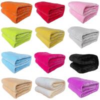 纯色法兰绒礼品毛毯薄款珊瑚绒法兰绒床单毯子可印logo