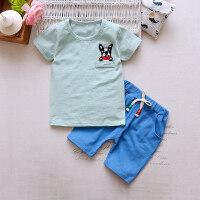 童装新款婴儿童衣服0男童宝宝夏装套装1儿童5短袖两件套23岁4潮