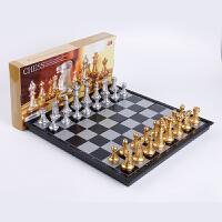 友邦国际象棋大号儿童带磁性黑白学生西洋棋初学者可折叠