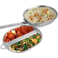 不锈钢饭盒户外野营饭盒便携折叠餐具军版野餐餐盒学生便当盒