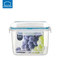 乐扣乐扣保鲜盒塑料水果密封带饭微波炉饭盒食品收纳盒套装 1500ml正方形【蓝色】