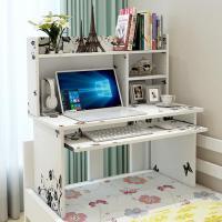 桌子床上宿舍学生上铺大学寝室电脑桌悬空写字懒人简约书桌带书架
