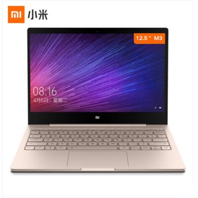 小米(MI) Air 12.5英寸金属超轻薄笔记本电脑(Core M-7Y30 4G 128G 全高清屏 背光键盘 Win10正版office)金 第七代处理器 128G SSD支持M.2接口 SSD硬盘
