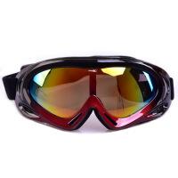 专业户外骑行 滑雪镜登山防风滑雪眼镜单层防风登山男女儿童 黑红