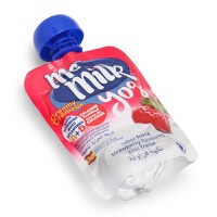 西班牙美妙可me milk宝宝草莓酸酸乳儿童进口零食水果酸奶90g*18