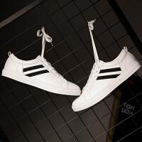 【2件2.5折]唐狮夏季男士板鞋低帮学生鞋韩版潮小白鞋社会运动休闲英伦帆布鞋