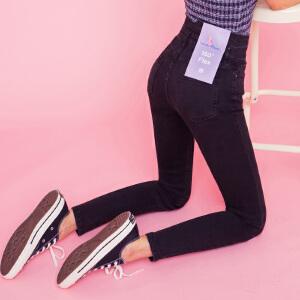 【1件3折:111元】韩都衣舍2019春装新款韩版弹力紧身小脚长裤牛仔裤女YK9149�S