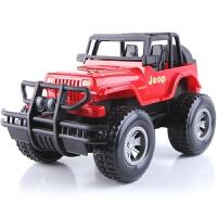 儿童超大号惯性吉普车玩具仿真越野汽车模型男孩幼儿园礼物 抖音 红色 袋装