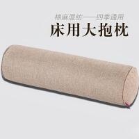 棉麻糖果枕头大号圆柱抱枕毛绒长条腰枕靠垫沙发抱枕套不含芯
