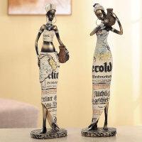 创意客厅摆件家居饰品树脂人物装饰品摆件工艺品非洲异域风情摆设