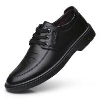 皮鞋男商务休闲男鞋黑色百搭软底防滑男士休闲皮鞋正装工作鞋子男 2728 黑色