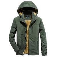 AFS JEEP战地吉普秋冬薄款速干夹克 可脱卸帽春秋外套男士轻便工装夹克上衣