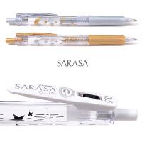 限定日本斑马ZEBRA中性笔真夜中�ㄠ�笔白色金属色JJ15按动水笔0.5款绘图笔sarasa笔限量版1.0银色金色牛奶