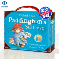 英文原版 小熊帕丁顿8册礼品套装 Paddington Suitcase 儿童英语合集绘本故事书 at the zoo,