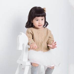 2018秋冬新款童装儿童套头毛衣男童女童圆领线衣宝宝麻花针织打底衫厚款