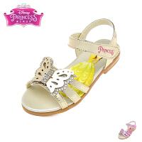 迪士尼Disney童鞋2018新款女童凉鞋小童闪钻时装公主鞋蝴蝶学生鞋(5-10岁可选)FS0469